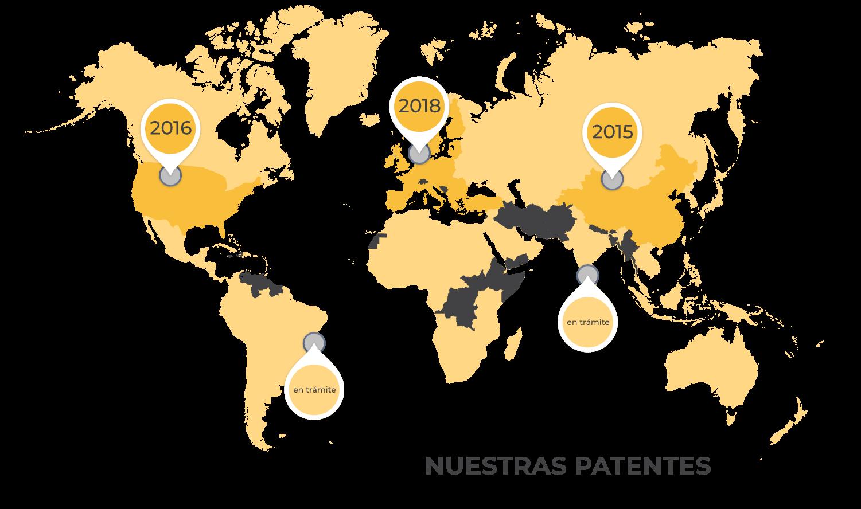 Patentes mundiales de Solarays